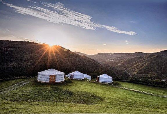 yurte in langa